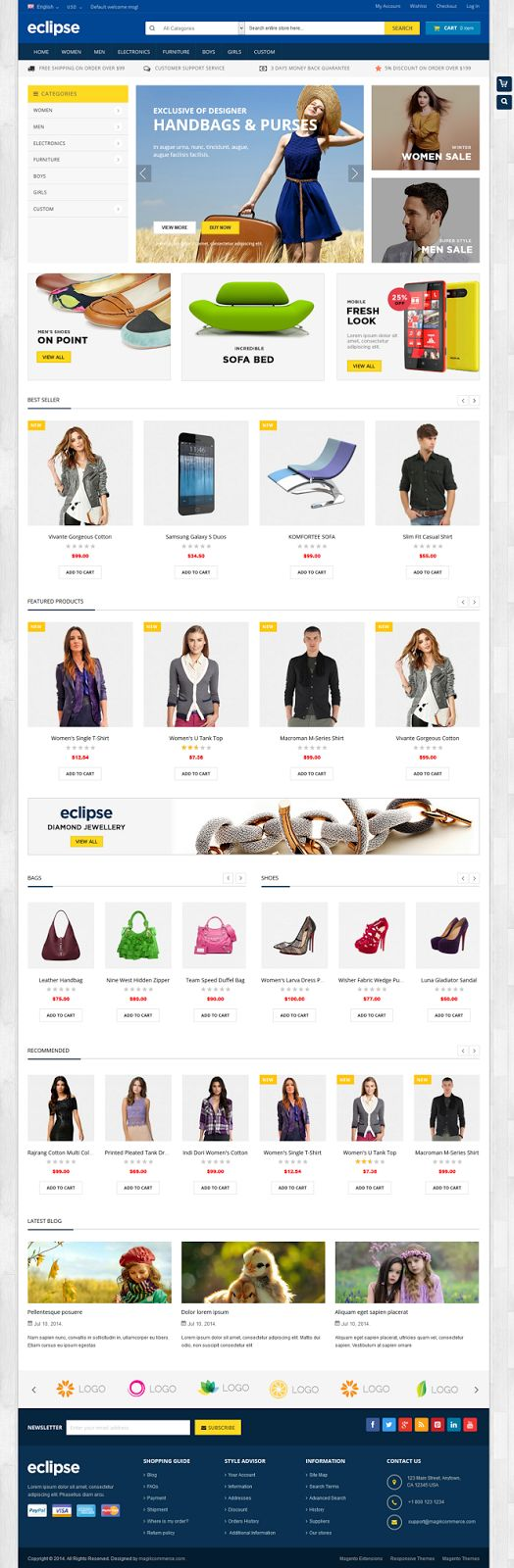 Perfect New Responsive Multipurpose #Magento theme #eCommerce #store #template