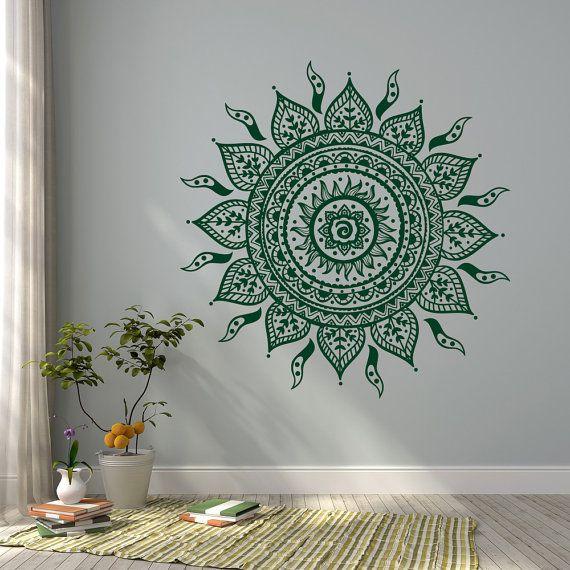 Mandala pared calcomanía Mandala de la etiqueta por HomyVinyl