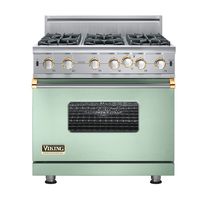 Viking stove - mint and gold: Stove, Vikings, Burner, Kitchen, Gas Range, Stainless Steel