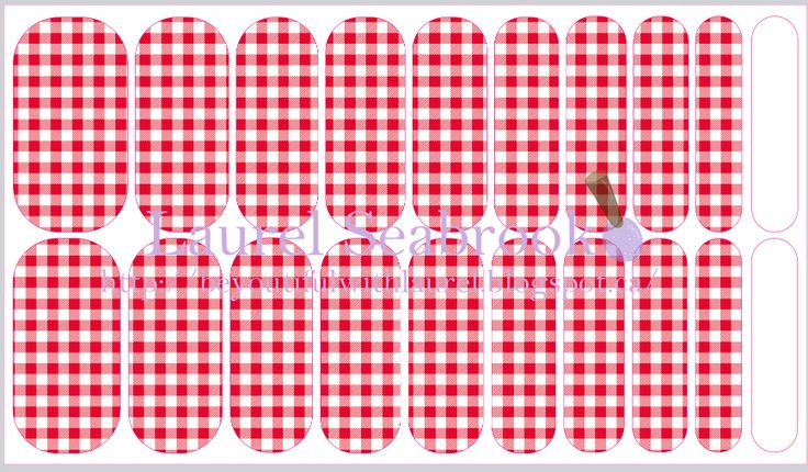Custom made NAS designs contact me to place an order or create your own! #nas #jamberry #nailart #gingham