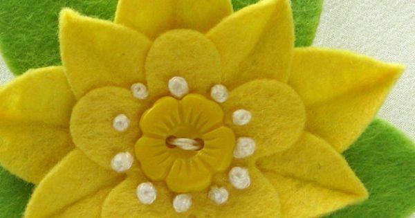 felt | Tumblr | vilt | Pinterest | Felt Flowers, Felt and Yellow