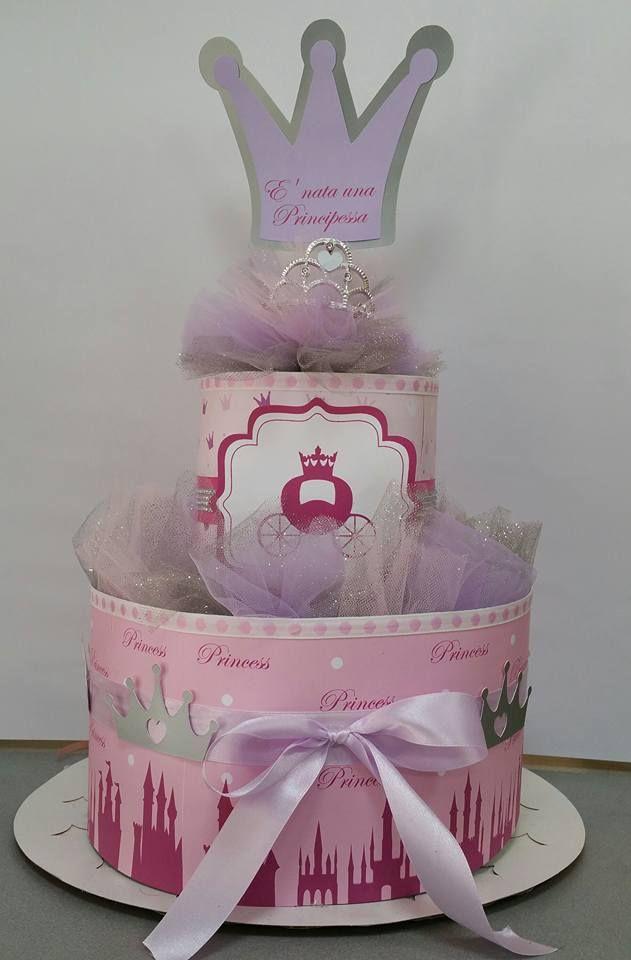 torta di pannolini e nata una principessa