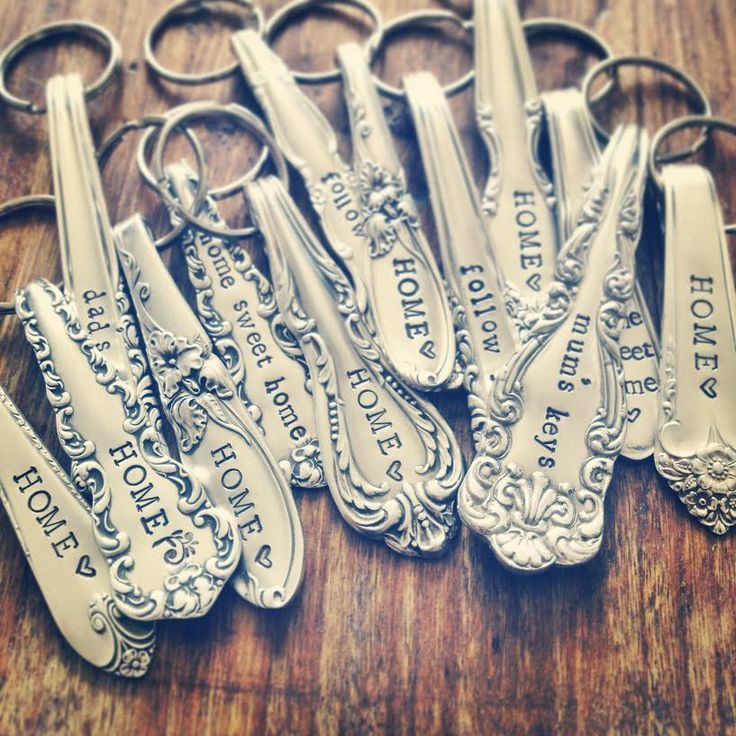 spoon handle keyrings by TheFadedNest.