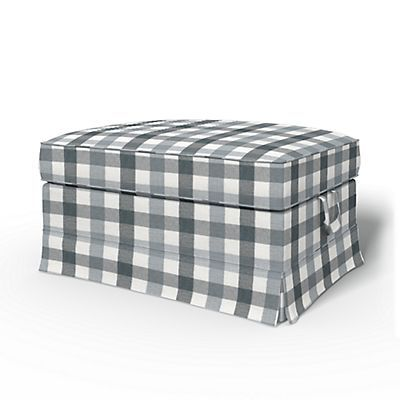 Ektorp Bromma Footstool cover Loose Fit Country - Footstool Covers   Bemz