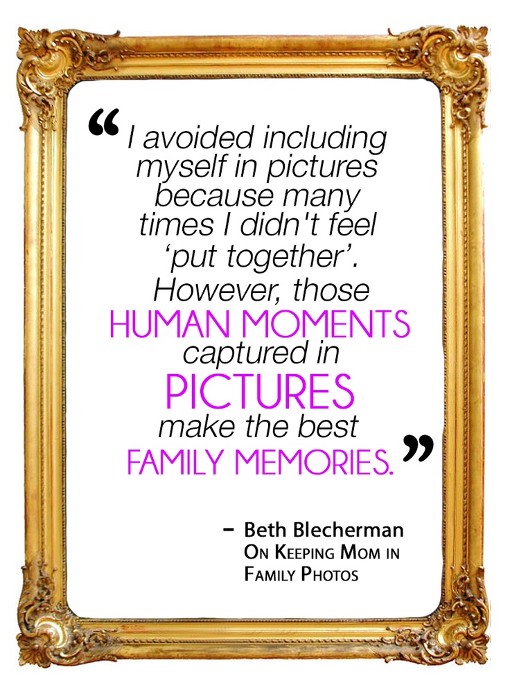 Do you forget to include yourself in photos with your kids? Read about how one mom is making it a priority to be a part of her family's photographic record.