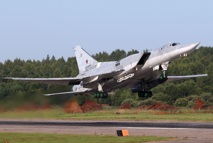 Tupolev Tu-22M-3 taking off from Soltsy-2
