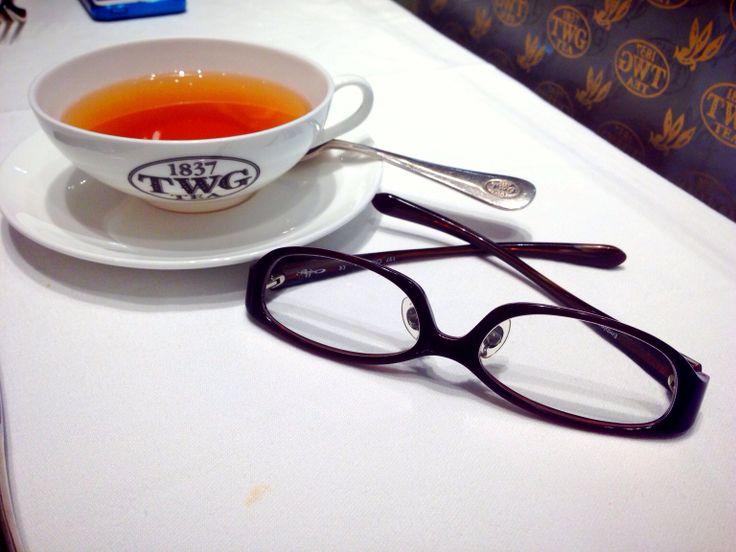 Glasses Journey with Hot Chamomile Tea