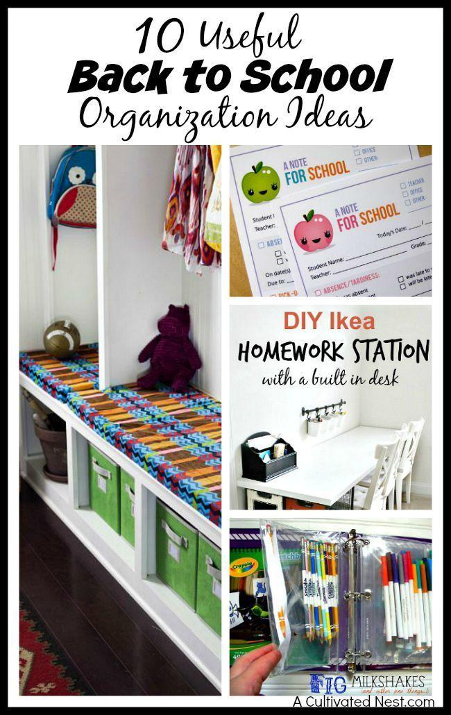 organization strategies with regard to homework