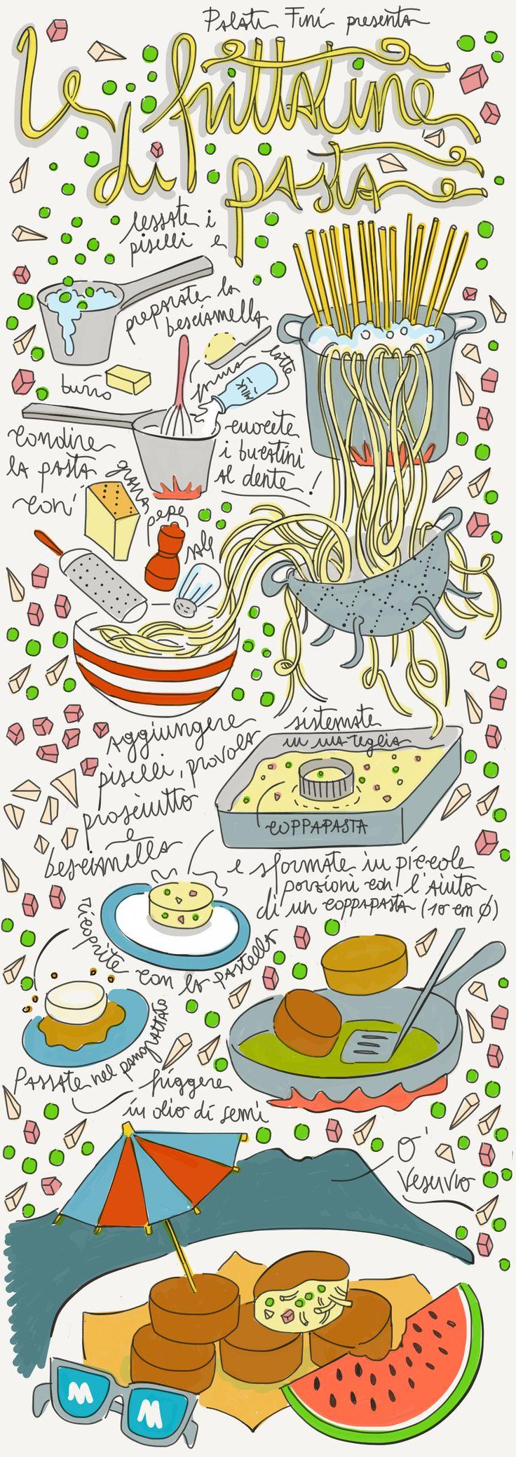 frittatine napoli naples illustrated recipe food illustration
