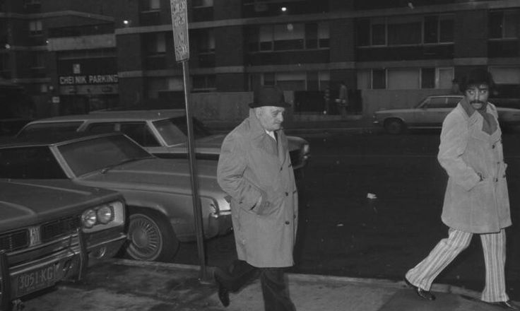 Joe Gallo's father, Albert, walks from Beekman-Downtown Hospital, where son was shot
