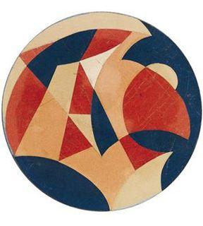 Giacomo Balla, a leading Italian Futurist - Motivo con parola TAC - collage (1921)