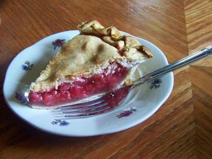 My very own homemade strawberry rhubarb pie. =)