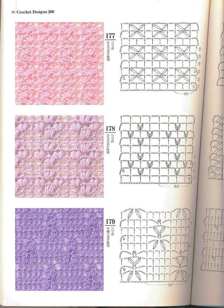 Muchas variedades de puntos a crochet patrones crochet - Punto de ganchillo para mantas ...