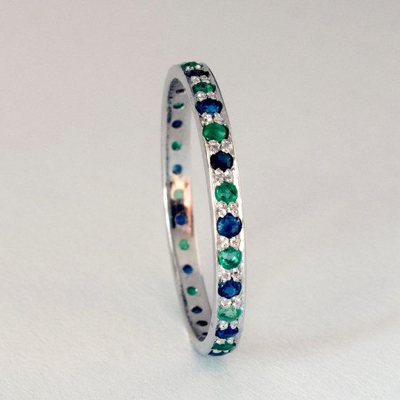 White Gold Eternity ring by ARDONN on Etsy