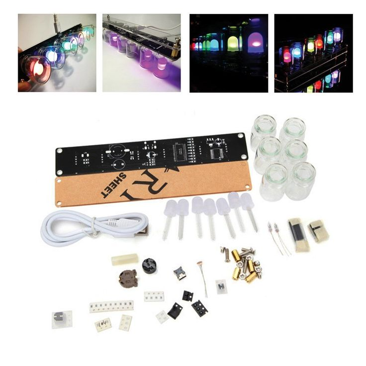 6 LEDs Novelty Signal Light Clock DIY Kit IQ and EQ Development Education Learning Kit Engineer Starter toy Hobby Electronic Kit W/USB Cable ERG-2 ** Want to know more, click on the image.