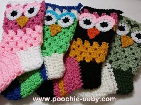How I Start My Crochet Owl Stockings: Tutorial - Poochie Baby