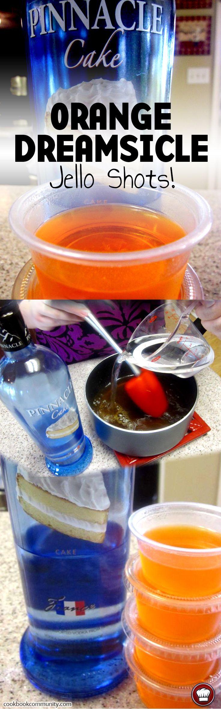 Orange dreamsicle jello shots recipe vodka jello shots for Easy shot recipes with vodka