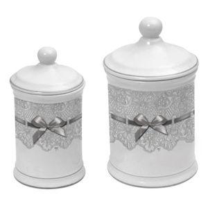 Pots coton dentelle salle de bain Mathilde M