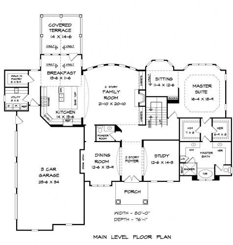 Floor Plans, Architectural Drawings Blueprints From Elegant House Plans  Online Collection
