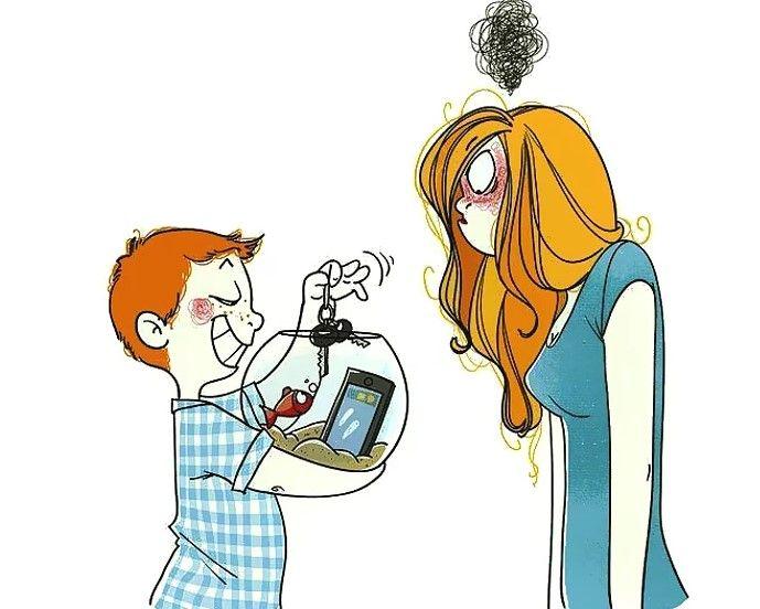 Открытки, смешные картинки про молодых мам
