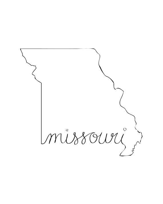 Printable Missouri State Art Print 8x10 Digital Wall Art Gift Etsy State Art Print State Tattoos Digital Wall Art