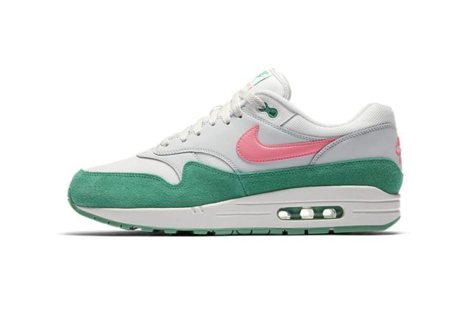 This Nike Air Max 1 Comes Dressed In Grey, Pink and Green