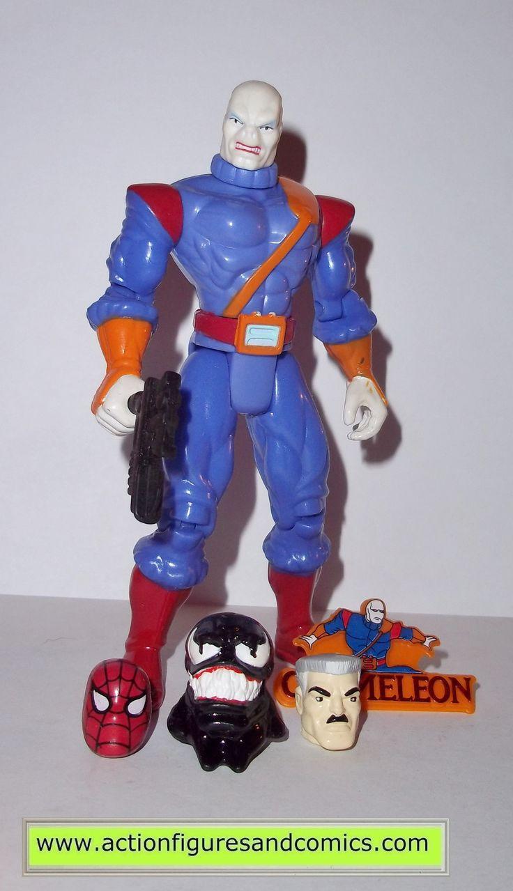 Spider-man the Animated series CHAMELEON 1995 J JONAH JAMESON head complete toy biz action figures