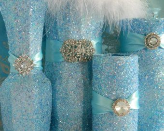 Frozen+prom+decorations | Centerpiece, Wedding Decorations, White, Shabby Chic Wedding, FROZEN ...