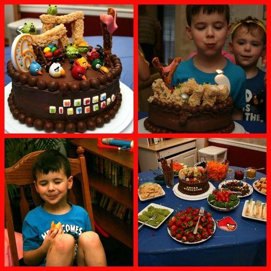 Angry birds themed birthday food