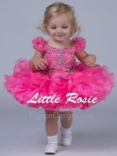 Hot Pink Party Little Girls Baby Cupcakes Kids Infant Toddler Pageant Dresses