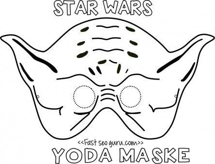 Printable yoda mask template for