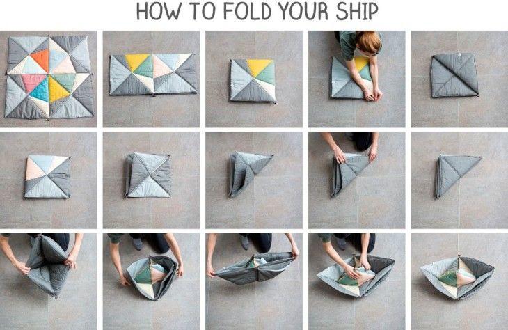FABELAB play-fold-ship: Deken wordt bootje - Wonen&Co