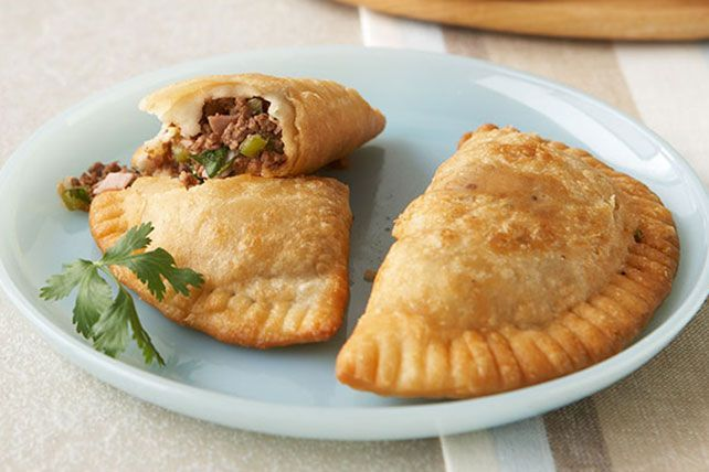 These delicious empanadas are made with a versatile dough that can be either fried or baked.