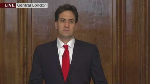 Ed Miliband resigns as head of the Labour Party after Labour loses 33 seats and Tories gain 10 seats for a majority.