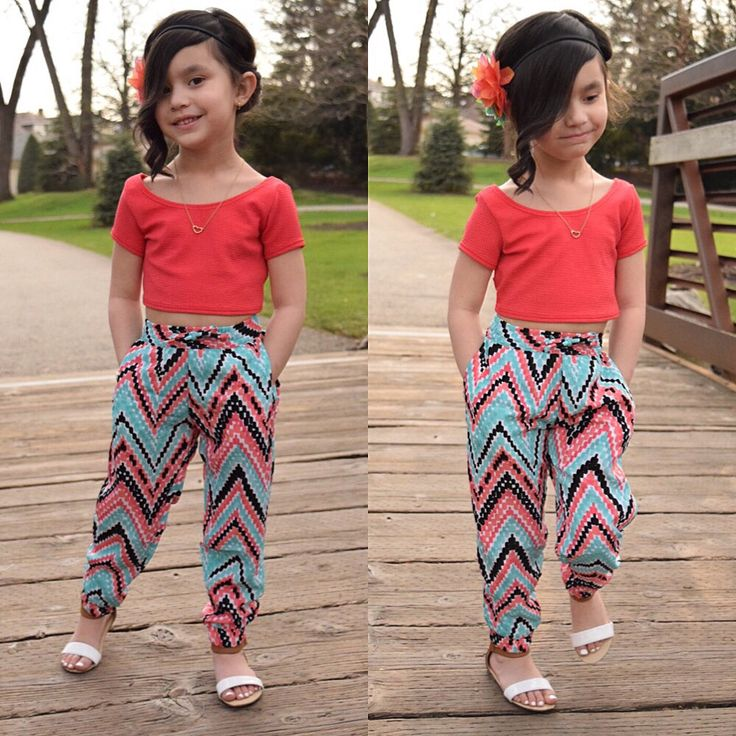 Cute Spring Outfit! Kid's Crop Tops Kids with Style Little ...