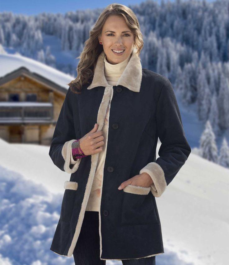 Manteau Long Suédine #travel #voyage #atlasformen #discount #shopping #ootd #outfit #forwomen #femmes #femme #women #outfit #jacket #manteau #manteaux #atlasforwomen