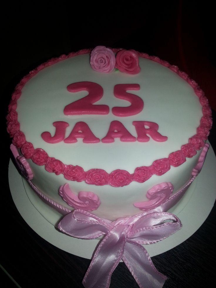 25 jaar in dienst taart
