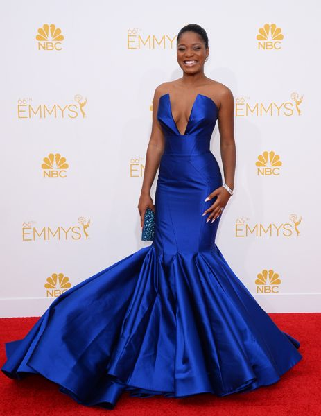 Keke Palmer of Masters of Sex arrives at the 66th Emmy Awards. wowza!