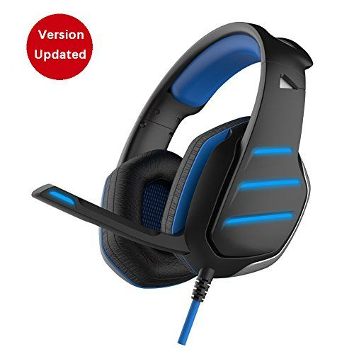 PC Gaming Headset with Mic for PS4 Daping Over Ear Stereo Bass Headphones with Microphone Volume Control LED Light Splitter for PC Smartphone Laptop, 3.5 Jack, Balck Blue  Noise Cancelling: Closed earcup design covers your entire ears and cuts out external sound effectively, provide you with a high quality sound and  enjoy the virtual gaming world  Universal Compatibility: Works great with PlayStation 4 / Xbox One (Need a microsoft adaptor) / Mac / Desktop / Laptop or smartphone iphone...