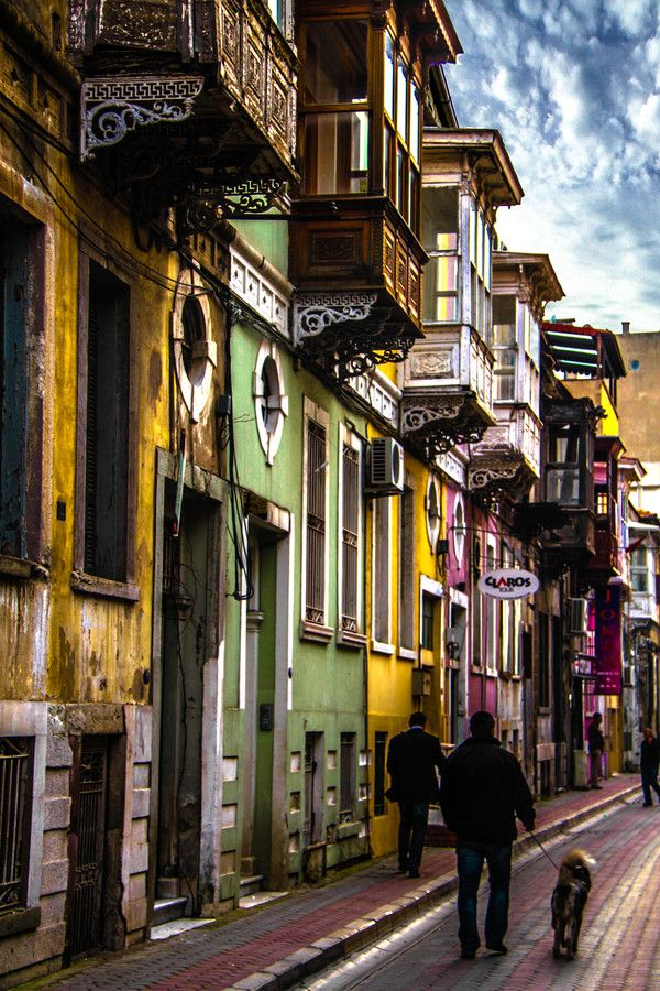 Historical street in Alsancak, Turkey