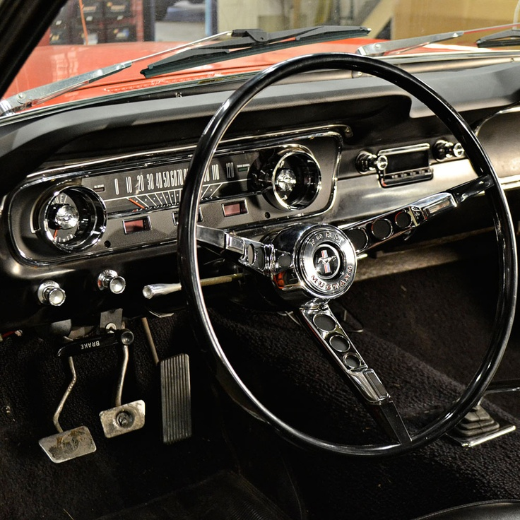 This beautiful reproduction steering wheel and Scott Drake Horn Ring were recently installed in our '65 #Mustang coupe, the Weekend Wrench, adding a perfect touch of class.
