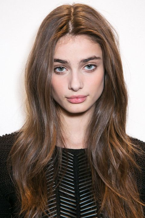 Brown Hair with loose waves at Ralph Lauren