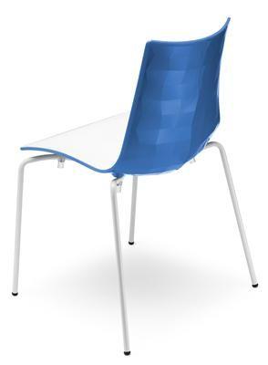 EZfurn - CHAIR ZEBRA BICOLORE 4 LEG Blue