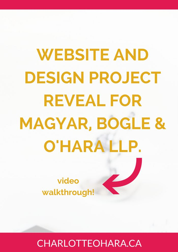 Website and design project reveal for Magyar, Bogle & O'Hara LLP | law firm website redesign project | I had so much fun redesigning this law firm website that I even recorded a video walk through to show you what we did, our design direction, how we layed out the website content to target the ideal client, and so much more. Click through to read the blog post and watch the video walkthrough or pin and save for later!