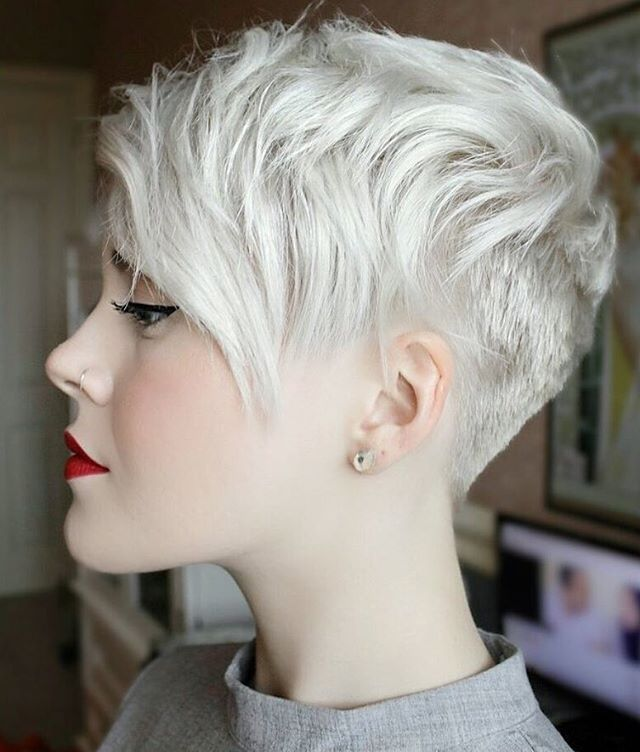 Platinum pixie w undercut                                                                                                                                                      More