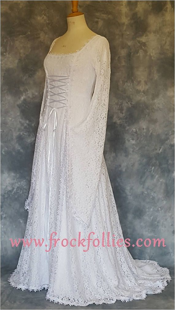 Medieval Wedding Dress Renaissance Gown Elvish Wedding