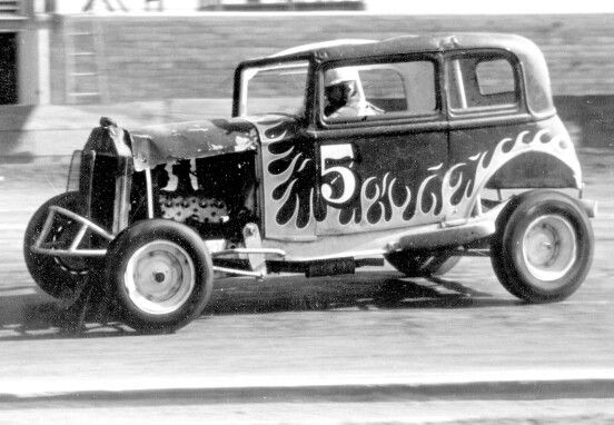 Parnelli Jones In An Early Flathead Jalopy Vintage Auto