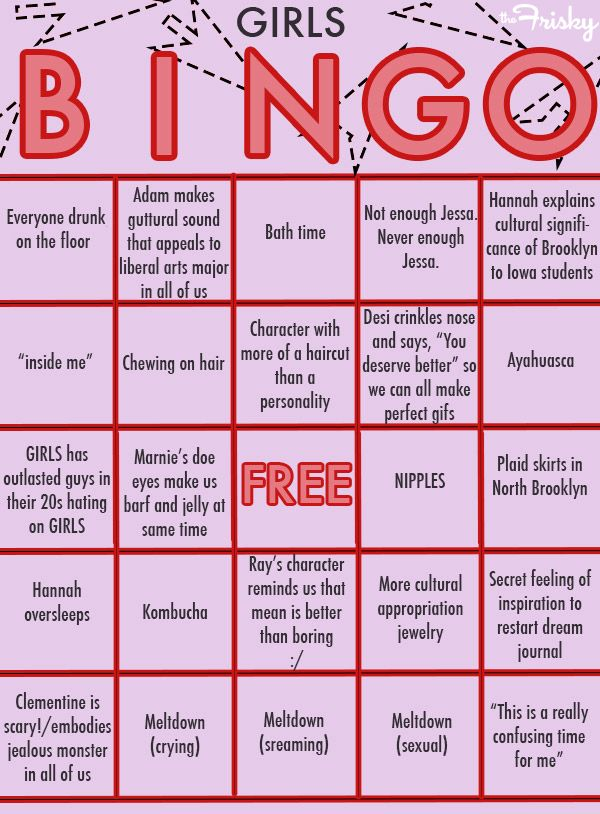 #Bingo for #Girls