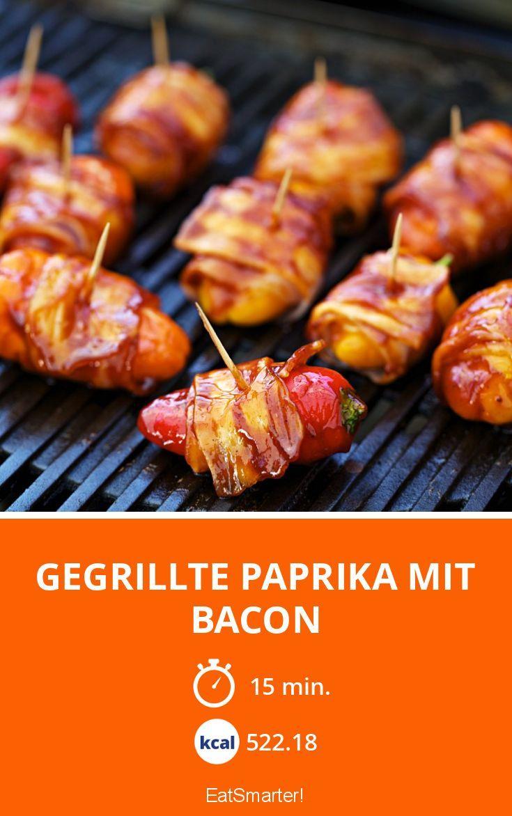 Gegrillte Paprika mit Bacon - smarter - Kalorien: 522.18 Kcal - Zeit: 15 Min.   eatsmarter.de