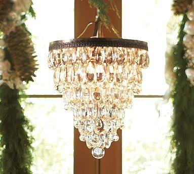 $399 - glass drop chandelier: Dining Rooms, Lighting, Glasses, Chandeliers, Children, Pottery Barn